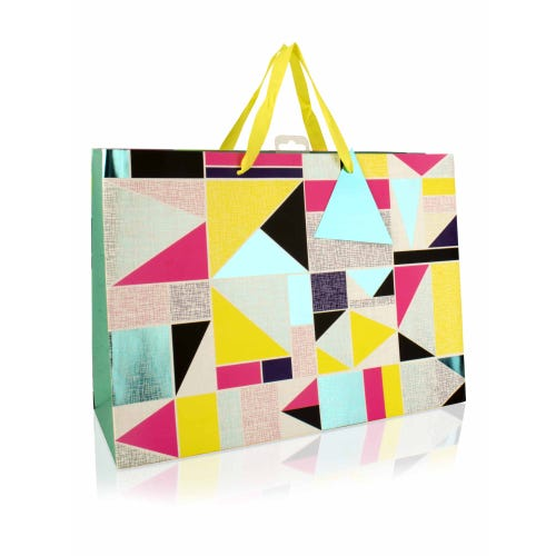 Geo Bright Triangle Design Extra Large Gift Bag