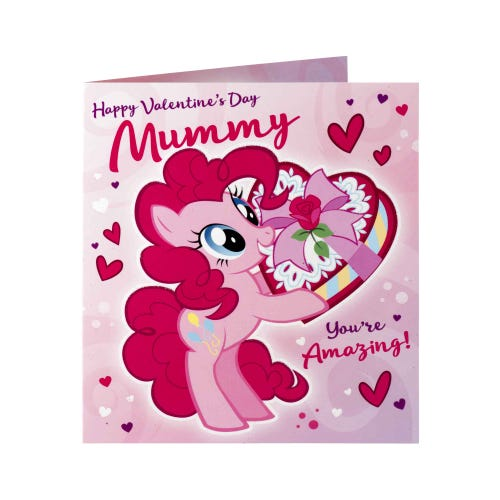 My Little Pony Pinkie Pie Mummy Valentine's Day Card
