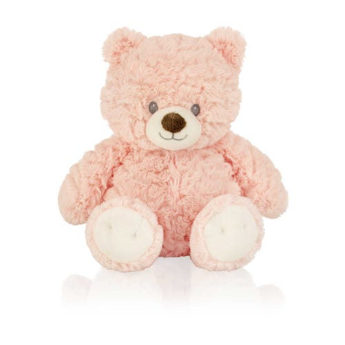 Pink 11'' Plush Nursery Bear Soft Toy