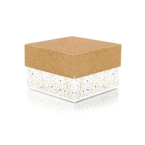 Gold Glitter & Stars Medium Gift Box