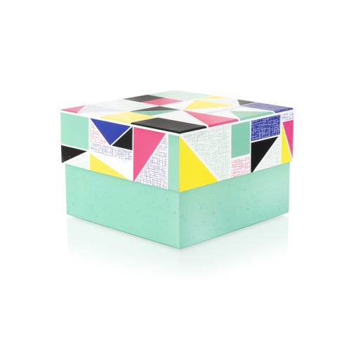 Geo Bright Triangle Design Medium Gift Box