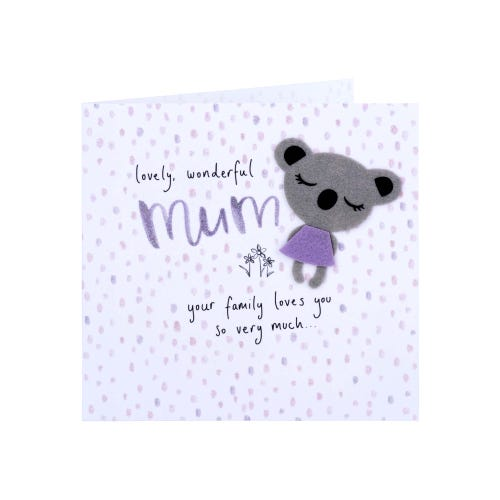 Koala Bear Wonderful Mum Mother's Day Card
