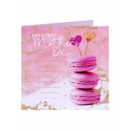 Pink Macaroon Sweetest Mother's Day Card