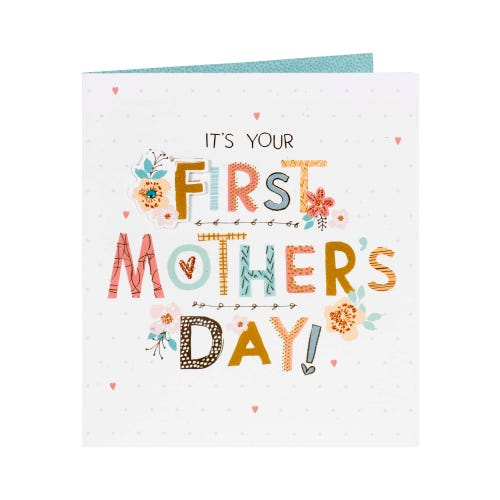 Hearts & Flowers First Mother's Day Card