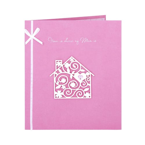 Spiral Heart Gem House Mum Mother's Day Card