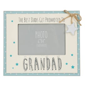 """The Best Dads Get Promoted To Grandad 6"""" x 4"""" Photo Frame"""