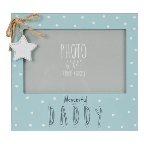 "Wonderful Daddy 6"" x 4"" Photo Frame"