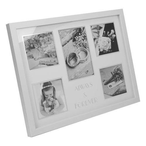 Always & Forever Wedding Collage Photo Frame