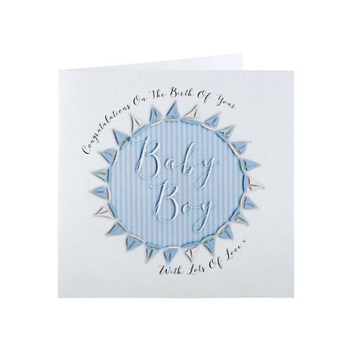 Blue Sailing Boats Baby Boy Card