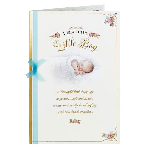 Painted Baby Little Boy Card