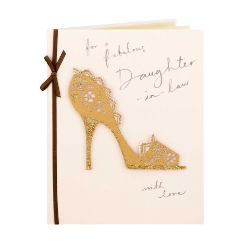 Gold Shoe Fabulous Daughter In Law Birthday Card