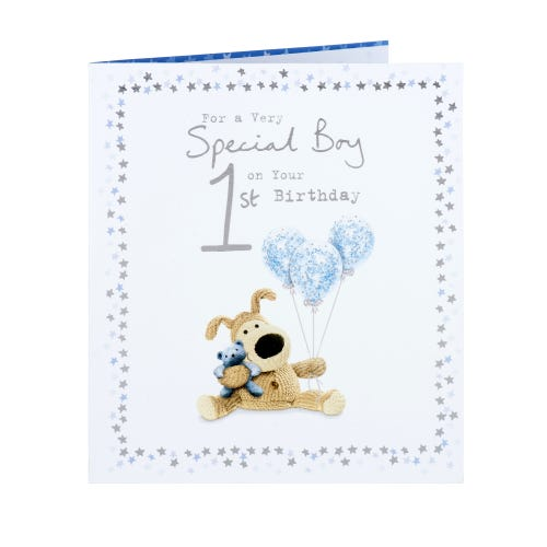 Boofle Special Boy 1st birthday Card