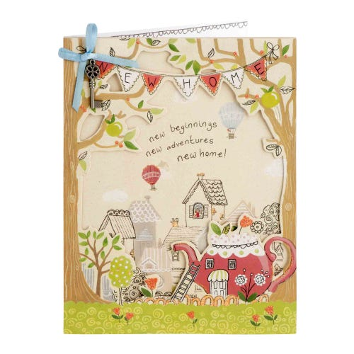 Teapot House New Home Card