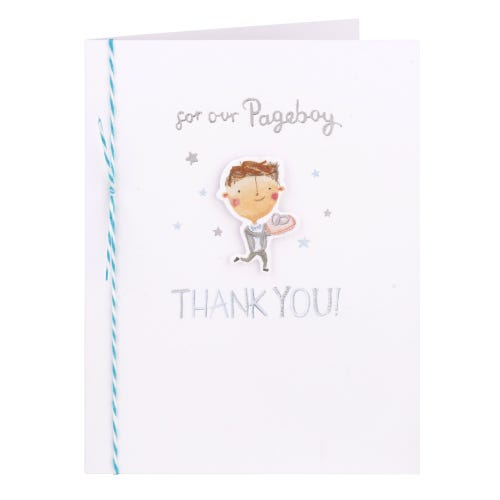 Boy With Rings Pageboy Thank You Card