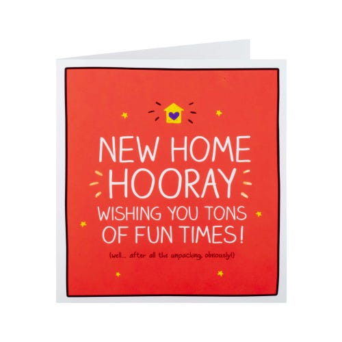 Tons Of Fun Times New Home Card