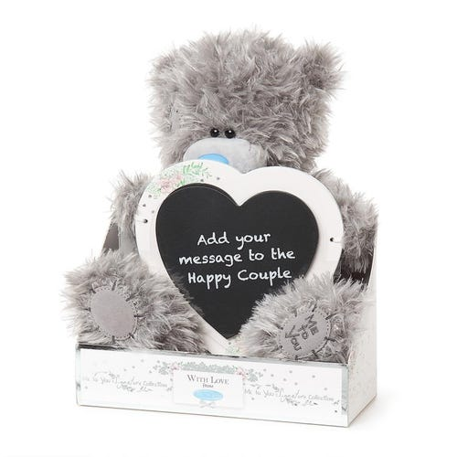 "Me to You 9"" Wedding Message Plaque Plush Bear Soft Toy"