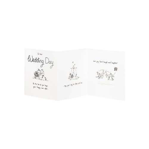 Two Dogs Getting Married Wedding Day Card