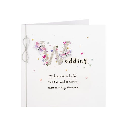 Butterlies To Have And To Hold Wedding Card