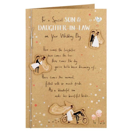 Special Son And Daughter In Law Wedding Day Card