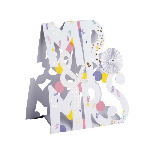 Mr & Mrs Pop Up Wedding Card