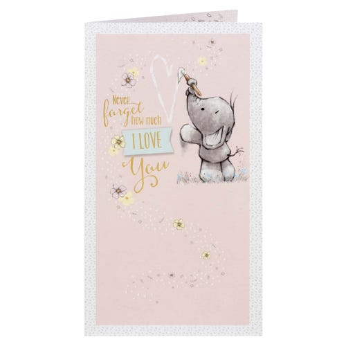 Elephant Painting Heart How Much I Love You Greeting Card