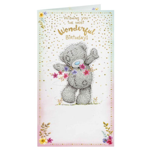 Me to You Bear With Flowers Wonderful Birthday Card