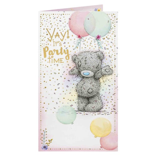Me to You Bear Confetti And Ballons Birthday Card