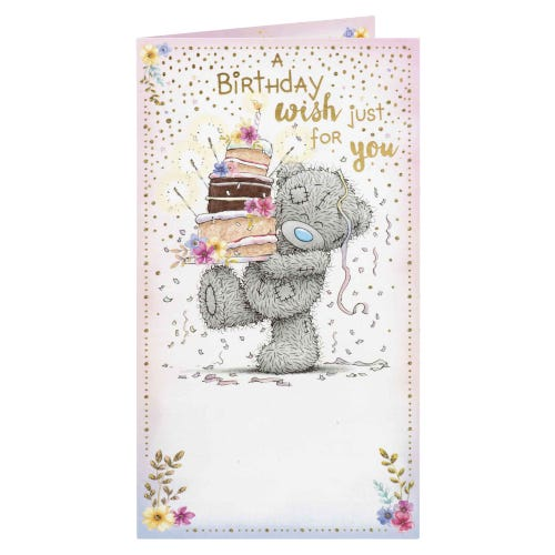 Me to You Bear Carrying Cakes Birthday Card