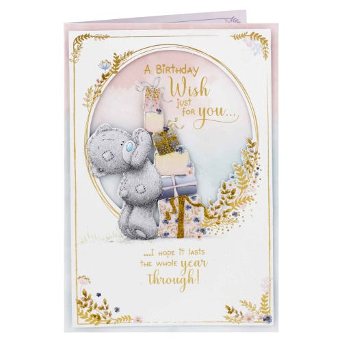 Me to You Bear Stacking Presents 3D Effect Birthday Card