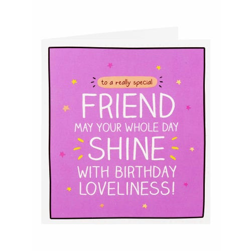 Happy Jackson May Your Whole Day Shine Friend Birthday Card
