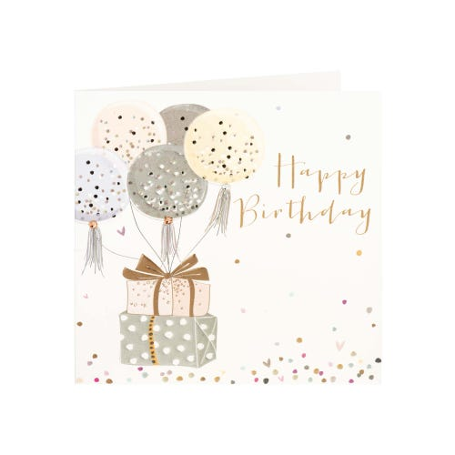 Ballons & Presents With Embellishments Birthday Card