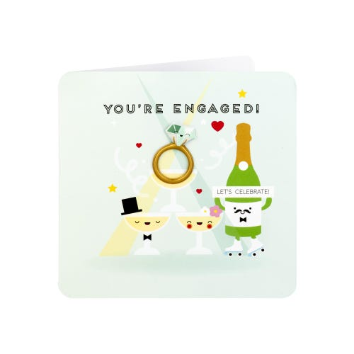 Magnetic Ring Engagement Card