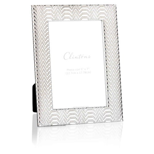 Silver Embossed 5 x 7 Frame