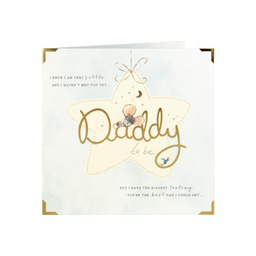 Sleeping Mouse Daddy To Be Father's Day Card
