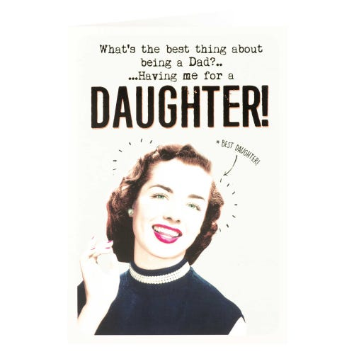 Woman With Pearl Necklace Funny From Daughter Father's Day Card