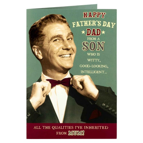 Dad From A Son Who Is Witty Father's Day Card