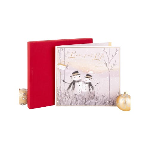 Snow Couple Love Luxury Boxed Christmas Card