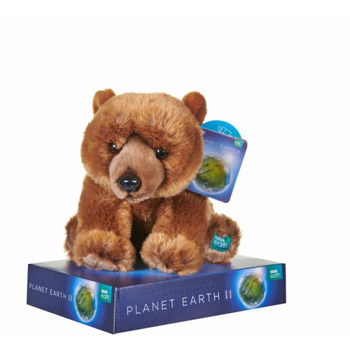 BBC Planet Grizzly Bear 10 Inch Soft Toy
