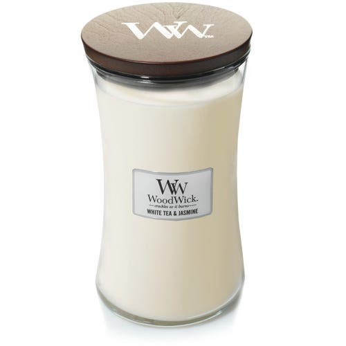 Yankee Candle WoodWick Large Hourglass Jar White Tea & Jasmine