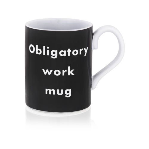 Black Obligatory work mug
