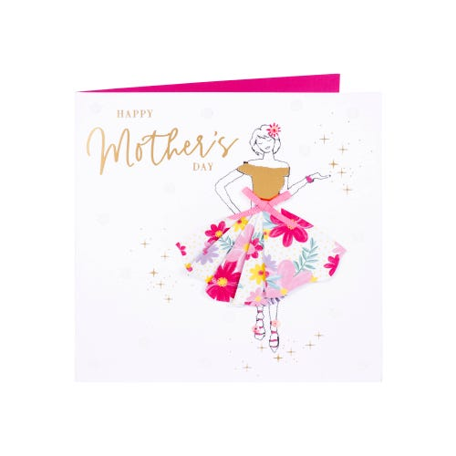Lady with Floral Skirt Mother's Day Card