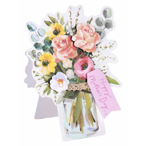 Sparkly Bouquet Mother's Day Card