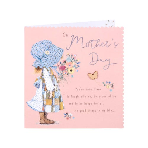 Girl with Flowers Mother's Day Card