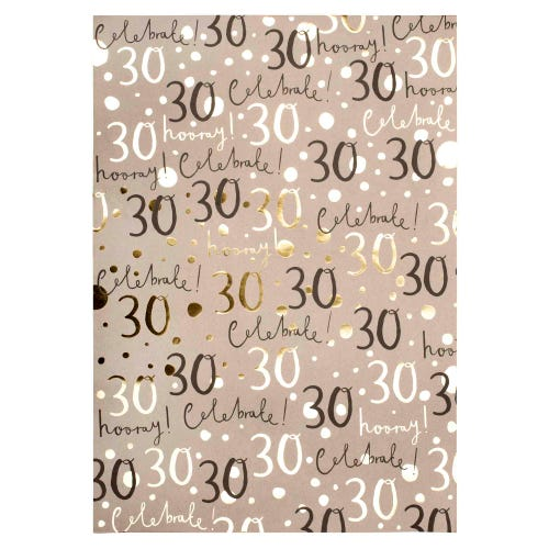 30th Wrap Wrapping Paper Single Sheet