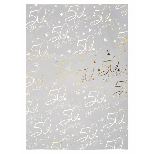 50th Wrap Wrapping Paper Single Sheet