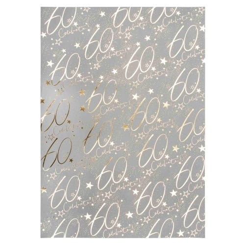 60th Wrap Wrapping Paper Single Sheet