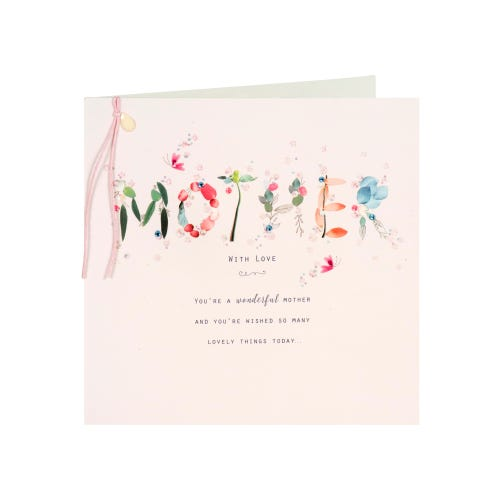 Petals & Glitter Mother's Day Card