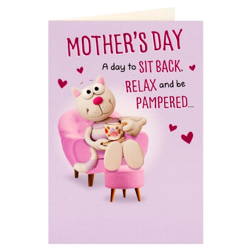 Relax And Be Pampered Mother's Day Card
