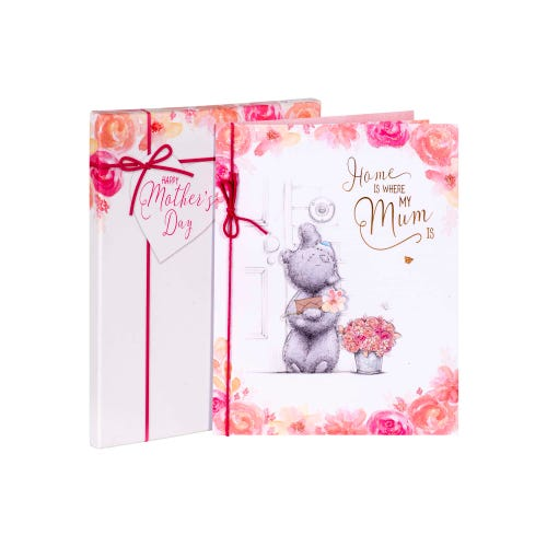 Mum MTY Bear & Flowers Luxury Boxed Mothers Day Card