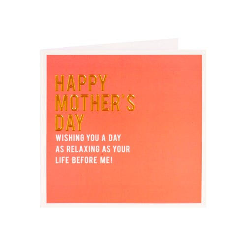 Relaxing Day Mothers Day Card
